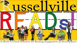 The Russellville Reads Logo