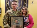 Kim McDaniel and SSG Louis Pence