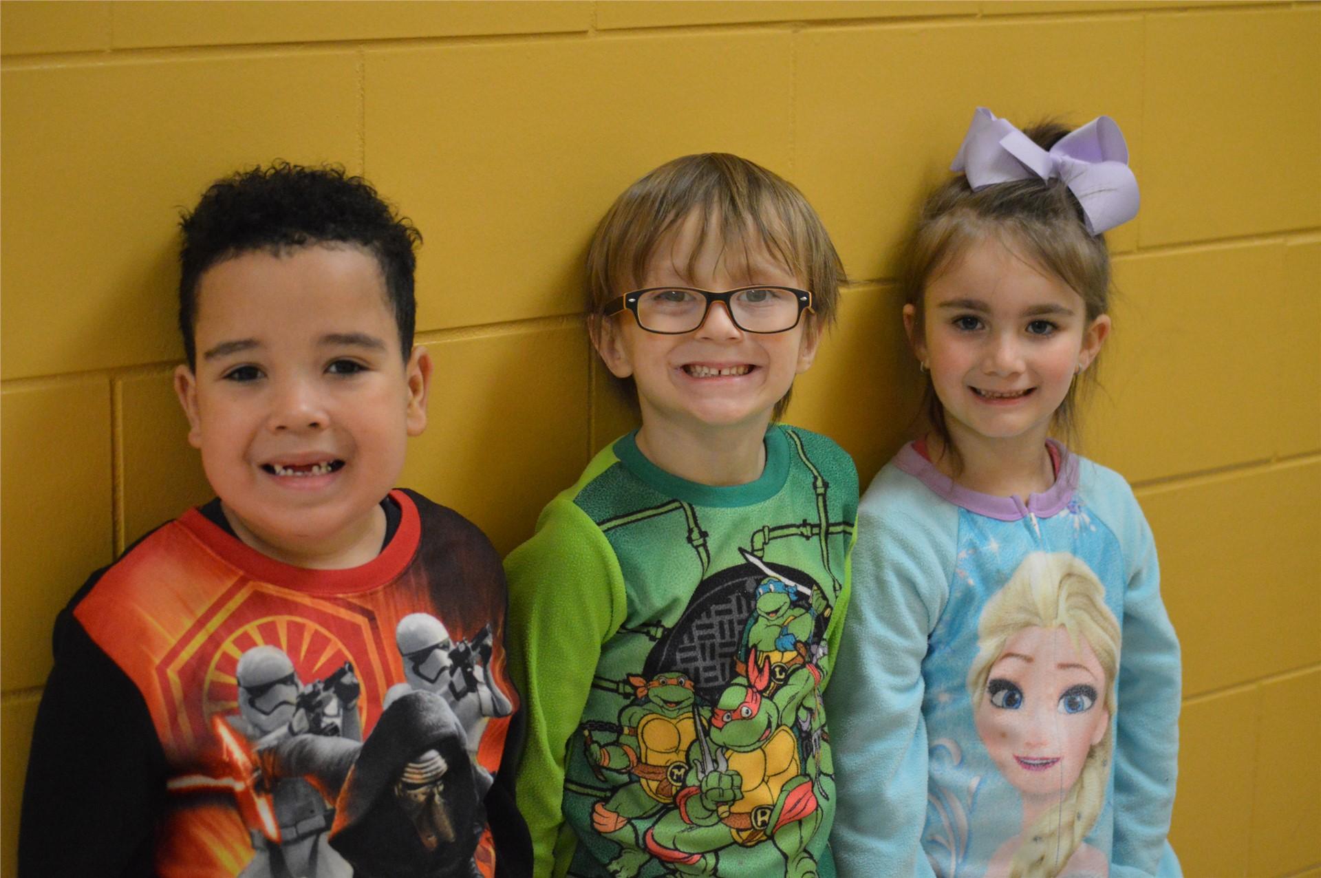 Kindergarten:  DaZayveon Gatewood,Kaden Robertson, Alexis Ashby