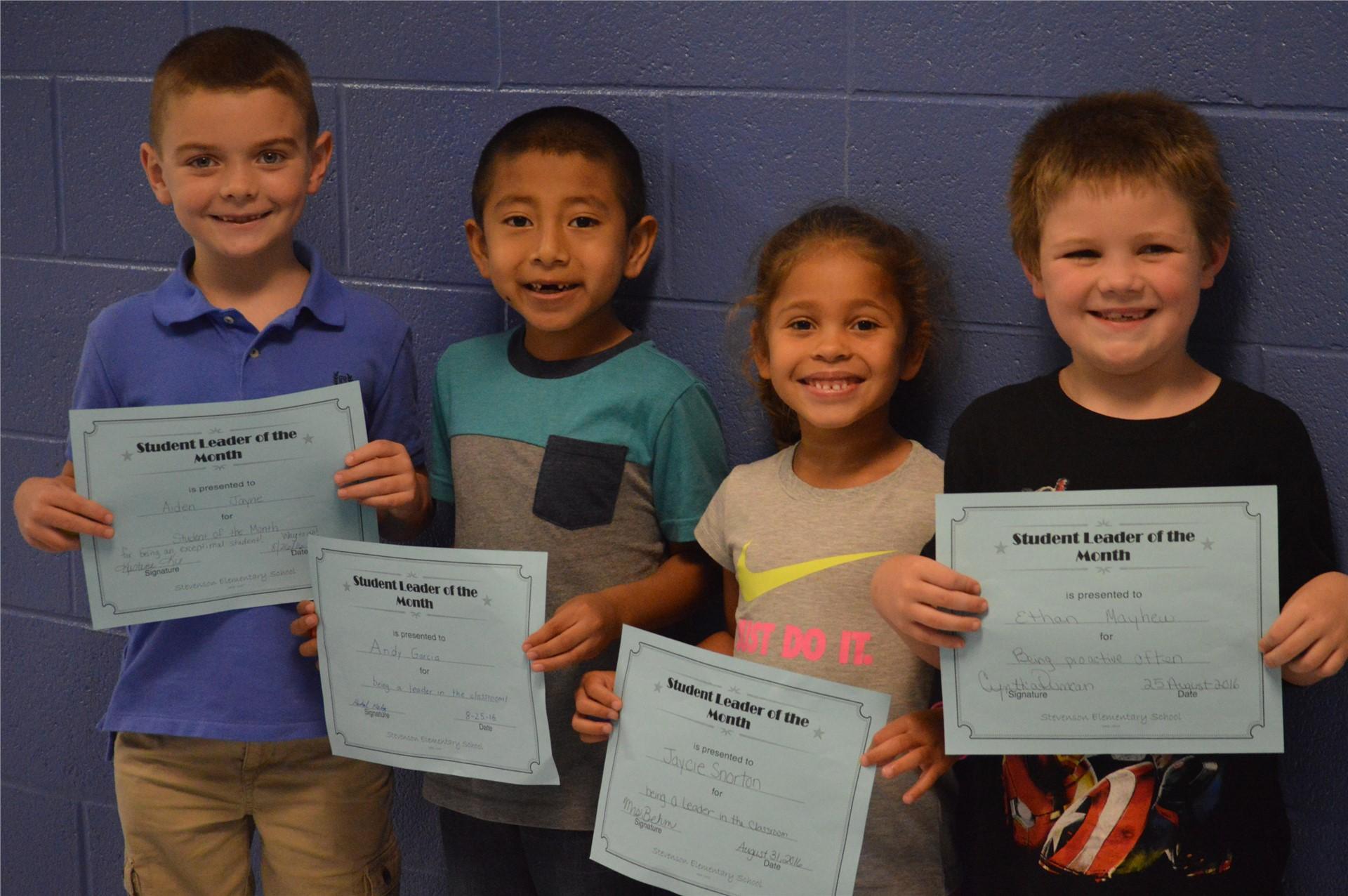Aiden Jayne, Andy Garcia, Jaycie Snorton, Ethan Mayhew, 1st Grade