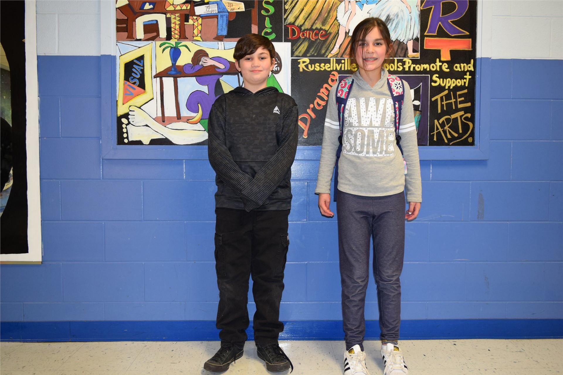 5th Grade:  Dakota Mayhew and Meredith Chapman