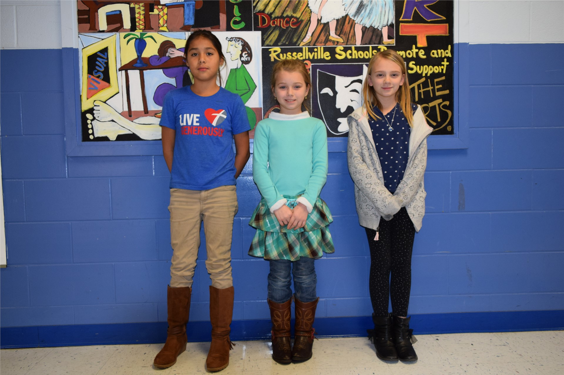 4th Grade:  Elizabeth Ramirez, Destiny Cannon, and Brianna Maguire