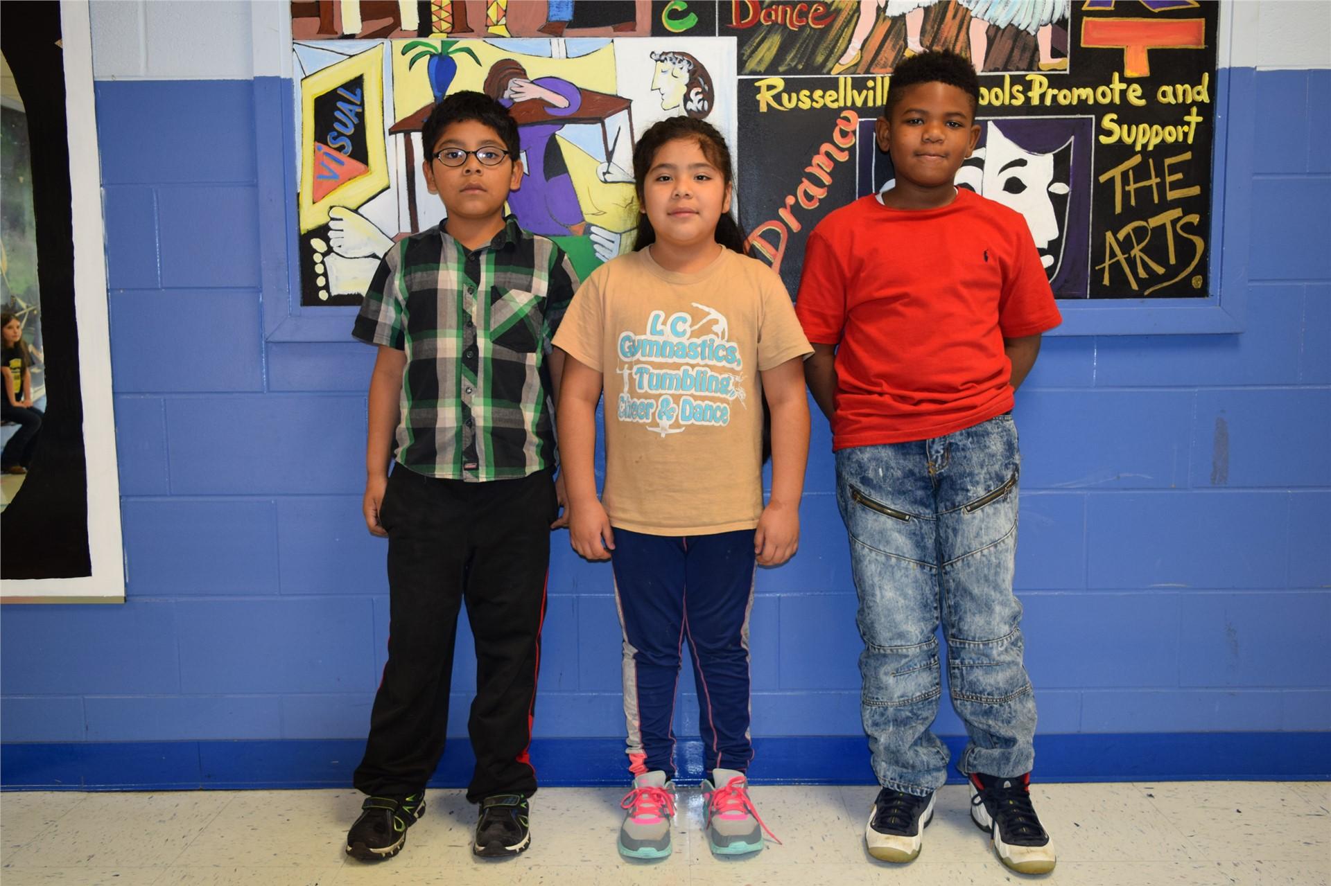 2nd Grade:  Guillermo Perlata Ramirez, Crystal Peralta Ramirez, and Takyon Darden