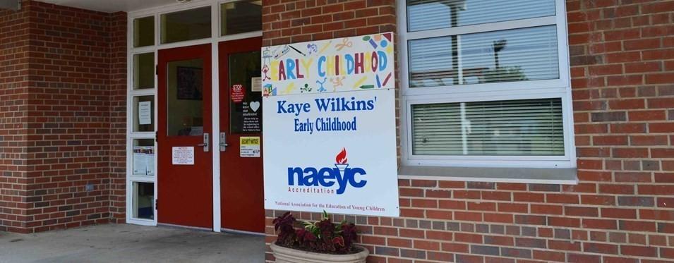 The Kaye W Wilkins Preschool front entrance
